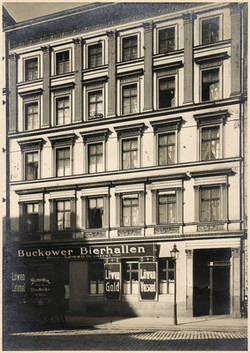 Buckowerstr. 3. April 1912.;